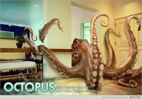 3d章鱼的制作过程(多图)