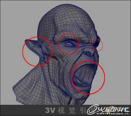 眼睛的结构就是两个圆球了,下图所示:-教你制作怪兽系列之 毒气 教