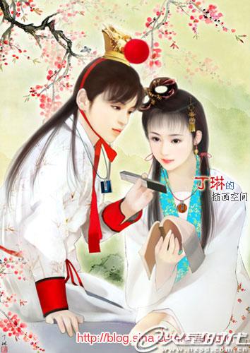 丁琳手绘清朝妃子图片