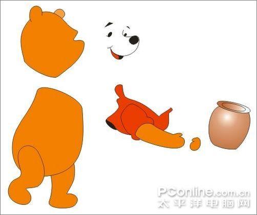 coreldraw绘制可爱的小熊维尼教程