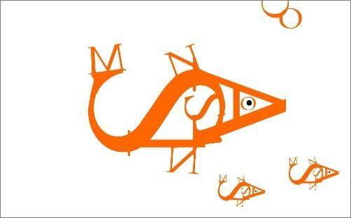 字母组合成各种动物图案