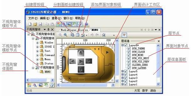 图二 不规则窗体设计工具界面
