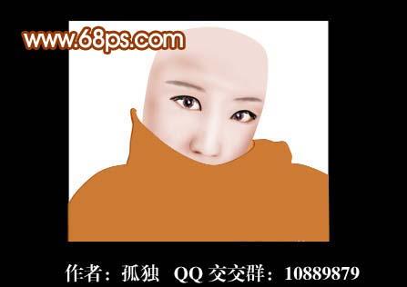 photoshop鼠绘蒙面美女头像