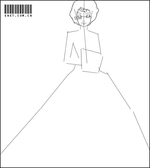 婚纱手绘入门简易图