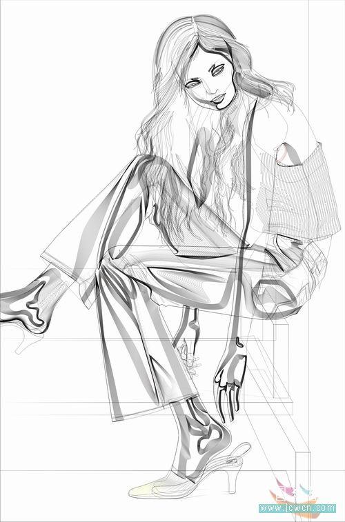 coreldraw手绘教程:绘制人物全过程
