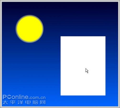 值此中秋佳节,让我们用Flash来做一个月圆之夜举笔题诗的动画吧。本教程主要使用了椭圆、矩形和文字工具以及渐变填充,操作实用,适合练习。先看下效果吧:   效果预览   制作步骤:   1、新建一个默认大小的Flash文档,用矩形工具画一个矩形用来作为夜空。  图1    2、选中矩形,在混色器面板中将填充设为从浅蓝到深蓝的渐变,类型为线性。  图2   3、选中矩形,在对齐面板中按下相对于舞台按钮,再按匹配高和宽,最后按垂直中齐和水平中齐。这样矩形就铺满了整个画布。  图3   4