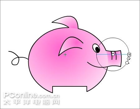 "flash制作可爱的""亲嘴猪""动画"