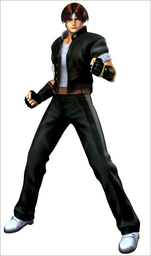 游戏《拳皇:极限冲击》3d化人物原画图