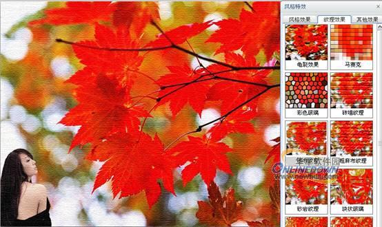 纸质纹理素材 红色
