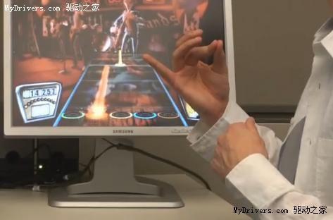 微软研发肌肉计算界面 赤手空拳玩游戏