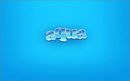 在本教程中,大家将学习如何使用Photoshop在短短几分钟内再现著名的Aqua壁纸。这其实很简单的!其实就是个字体教程,希望大家喜欢!先看看最终效果:  效果图   制作方法和步骤:   创建一个新文件(文件>新建),分辨率为1920×1200px/72 dpi。然后选择油漆桶工具(G),用蓝色填充我们的第一层。颜色代码#17CBFF。  图1   现在选择画笔工具(B),应用如下参数:不透明度30%,颜色代码#0499E6。  图2   在蓝色背景的侧面涂抹(如下图)。  图3