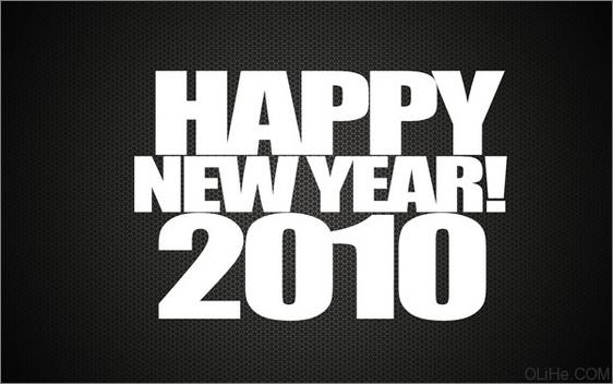 photoshop打造快乐新年2010光影质感文字
