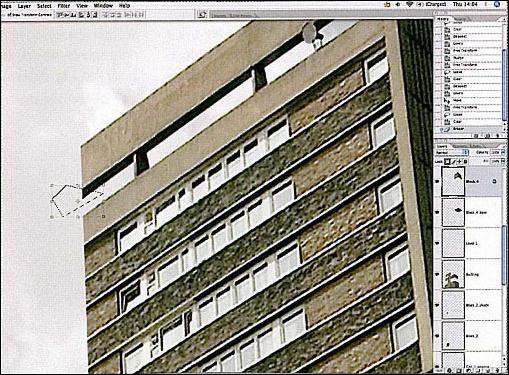 建筑手绘一点透视方块