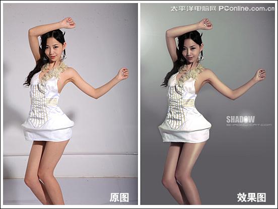 photoshop制作时尚杂志女模特质感效果