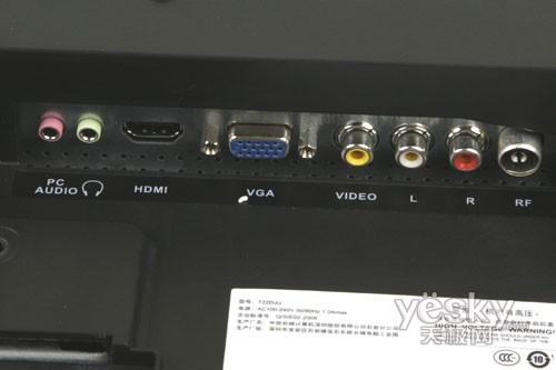 电脑主机长城hopely与显示器连接线