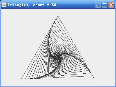 内旋转的三角形