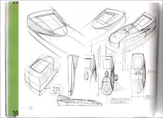工业设计草图中的圆珠笔线条表现技法赏