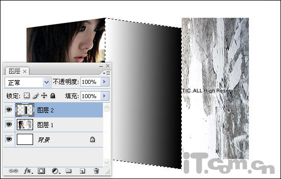 PS利用自由变换工具制作折叠图片效果 - 静中有动 - 静中有动的休闲屋.
