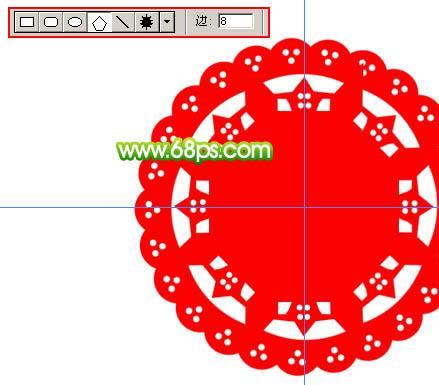 到这里圆形花纹图案基本完成了,把这些图层合并为一个图层,效果如图12