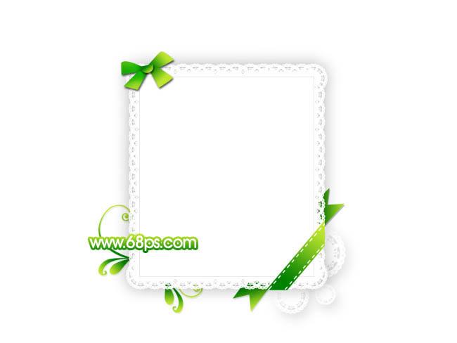 photoshop制作一款非常可爱的花边相框
