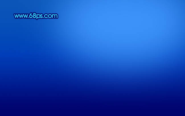 photoshop制作简单梦幻的蓝色光束壁纸