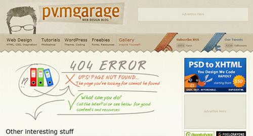 25个另类的网页错误页面设计(2)