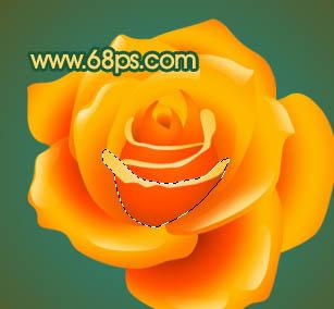 photoshop制作一朵可爱的卡通黄玫瑰