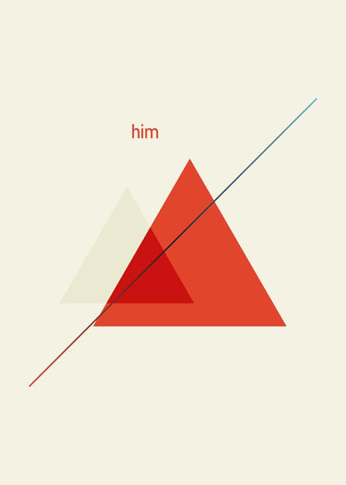 三足鼎立 三角形元素海报设计的独特魅力