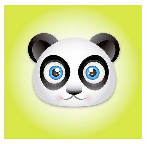 ai入门教程:创建可爱的熊猫宝宝头像图标
